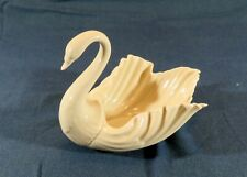 "Lenox Swan 8 3/4"" x 6 1/2"" x 6 1/2"" Ivory Bowl Dish Centerpiece"
