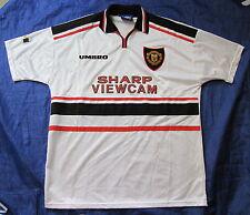 MANCHESTER UNITED away shirt jersey UMBRO 1997-1999 SHARP Red Devils men size XL