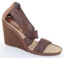 0d78962b2e8568 Andre Assous Peppy Hi Womens Size 10M Brown High Platform Wedge Heel Sandals  NEW