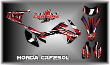 HONDA CRF250L CRF SUPERMOTO DUAL SPORT  SEMI CUSTOM GRAPHICS KIT PEDRO
