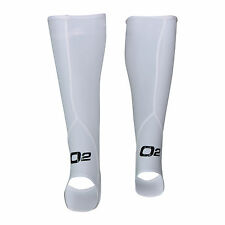 White Compression Stockings Socks Calf Tights with Stirrup Sleeves Skin Mens Run