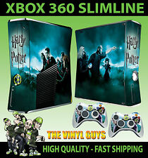 XBOX 360 SLIM Harry Ron Hermione Wizard War STICKER SKIN & 2 X CONTROL PAD SKINS
