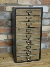 5 Cassetti Armadietto industriale in legno di stoccaggio petto Craft stationery strumenti Store ETC