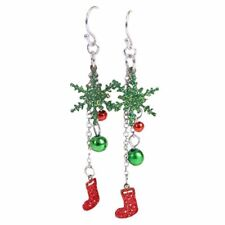 Natale Orecchini Perla Donna Moda Natale Gioielli lucenti K7R3