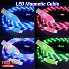 3A LED Micro USB Data Sync Charger Cable Lead For iPhone Samsung Android Type C