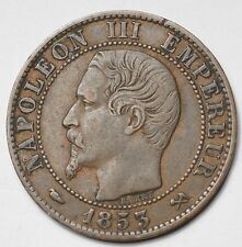 5 CENTIMES NAPOLEON III TETE NUE 1853B ROUEN