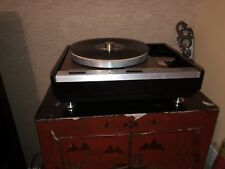 THORENS TD-125 CUSTOM BLACK PLINTH W Custom Bottom Cover