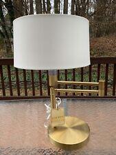 Ralph Lauren Swing Arm Polished Brass Table Lamp