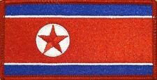 NORTH KOREA FLAG Iron-on PATCH KOREAN DPRK KING JONG UN RARE RED Border #03