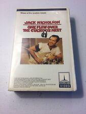 * One Flew Over The Cuckoo's Nest Betamax NOT VHS 1975 Jack Nicholson Drama Beta