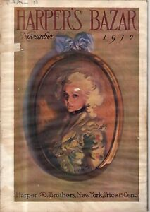 1910 Harpers Bazar November Extremely Rare - Rose O'Neill; Halloween;Japan;Votes