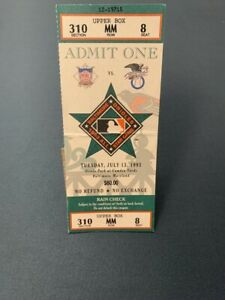 1993 MLB All Star Game Ticket Oriole Park at Camden Yards