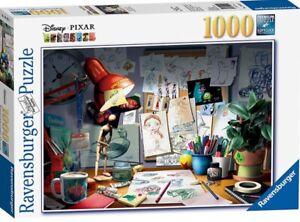 Ravensburger Disney Pixar The Artist's Desk 1000pc Piece Jigsaw Puzzle New