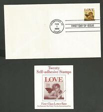 FIRST CLASS LETTER RATE LOVE FIRST DAY OF ISSUE FEB 1,1995 VALENTINES DAY