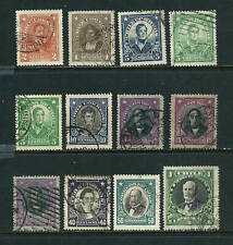 12 Stamps - Chile 1912-1921 issues used