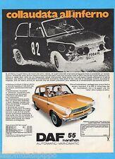QUATTROR971-PUBBLICITA'/ADVERTISING-1971- DAF 55 MARATHON