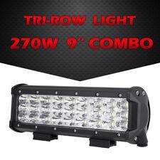 "9"" 270W TRI ROW CREE LED WORK LIGHT LAMP BAR COMBO OFFROAD DRIVING 4WD ATV UTV"