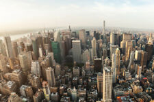 New York City Manhattan Aerial View Photo Poster 12x18 inch