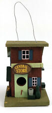 Rustic Country General Store Wood Hanging Bird House Detailed