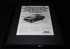 1976 Fiat 128 Framed 11x14 ORIGINAL Vintage Advertisement