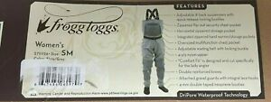 Frogg Toggs 2751126 Fishing Hellbender Women's SF Chest Wader, Slate/Grey, Small