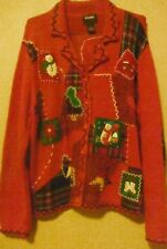 DESIGNERS ORIGINALS STUDIO SIZE LARGE UGLY CHRISTMAS SWEATER  FREE SHIPPING