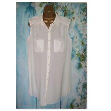 NEW RIVER ISLAND LONG SHIRT SIZE 16, Long cream shirt tunic top RRP £30