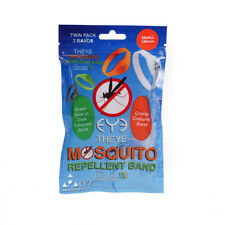 Eye Mosquito Insect Repellent Ankle & Wrist Bands Small 180mm Kids Twin Pack