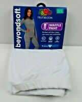 Fruit of the Loom Beyond Soft Womens X- Large Waffle Crew Thermal Pants White