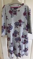 Joules Girls Grey Pink Floral 3/4 Sleeve Party Skater Dress Age 11-12 Years