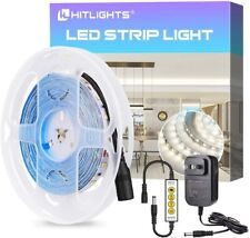 HitLights LED Strip Lights 12V Dimmable 2835 16.4FT Flexible 5000K 300 Tape
