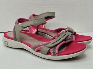 Clarks Beach Casual Sandals Women Size 6.5 Hook & Loop Sandals Pink