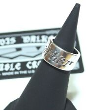 NEW! 100% AUTH TRAVIS WALKER DOUBLE CROSS Walker Band Ring RGS068 925 SILVER