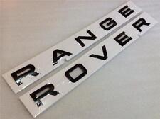 Range rover font bonnet badge decal genuine part ** brillant noir ** nouveau