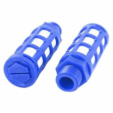 5 X Blue White Plastic Pneumatic Muffler Air Exhaust Silencer 1/2Pt Male Thread