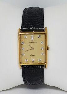 Vintage Mens Wittnauer Quartz  KY1213 Swiss 0280 Gold Tone Analog Watch C8