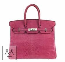 9f6c8e99f90 Hermes Birkin Bag 25cm Lizard Exotic Skin Fuchsia Pink PHW - 100% Authentic