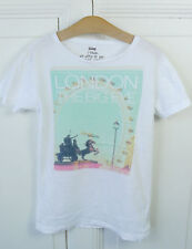 VINTAGE55 T-Shirt Print City London The Big Eye Gr. 10 140 (HG339 )