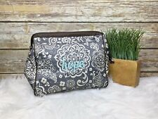 Thirty One Hope Embroidered Floral Print Clutch Purse HandBag Lunch Pouch Case