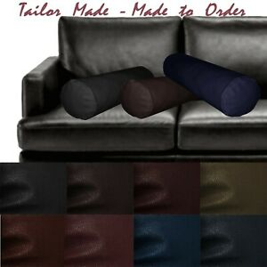 Tailor Made(Cover Only) Faux Leather Sofa Long Tube Bolster Yoga Pillow Case Pb2
