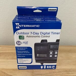 Intermatic Outdoor Digital Plug In Timer Programmable Switch 15 Amp 7 Day Black