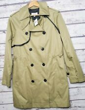 New Coach Trench Coat Size 6 Tan Beige Jacket Top Womens