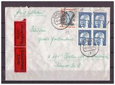 Berlin, Eilzustellung 4 MiNr. 365 + 439 innerhalb Berlin 06.12.1972