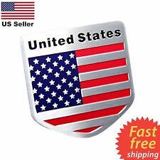 "ALUMINUM American Flag Sticker Emblem Decal For Auto, Car, Bike, & Truck 2""x2"""