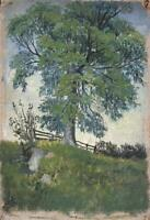 TREE IN LANDSCAPE Oil Painting On Canvas - 20TH CENTURY