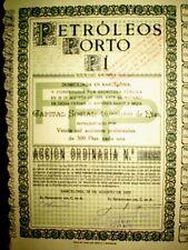 Petróleos Porto Pi. Spain  Share certificate 1923