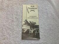 Vintage 1950s Fort Ticonderoga Visitors Guide Lake George New York