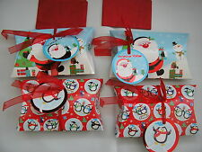 "set of 4 small christmas gift / luxury pillow packs  4"" x 3"""