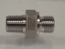 """1/4 NPT Male to 1/4"""" BSP Male 316 Hydraulic Stainless Steel Nipple & Other Media"""
