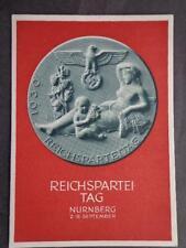 Germany Third Reich  RPPC  Postcard Cover1939 Reichspartei tag